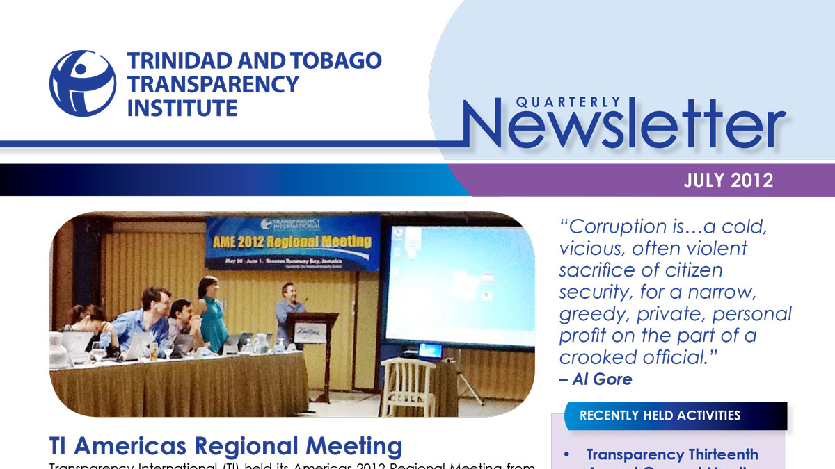 TTTI Newsletter Jul 2012