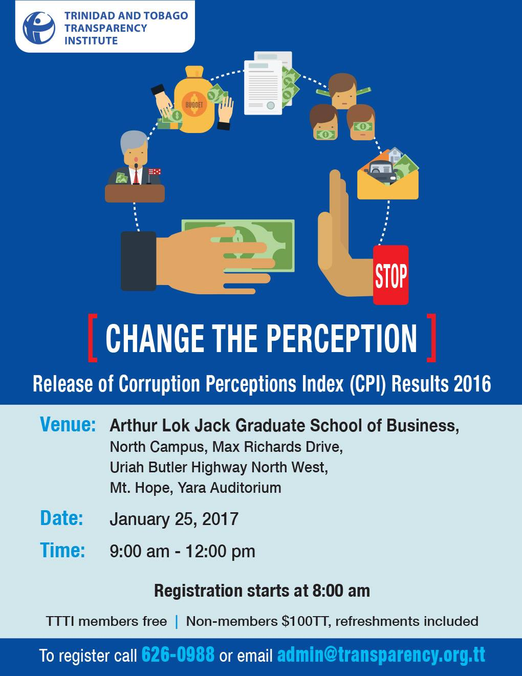 Release of Corruption Perceptions Index (CPI) 2016